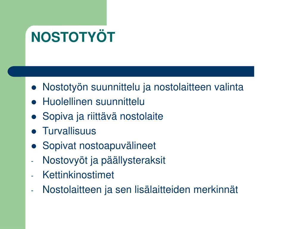 NOSTOTYÖT