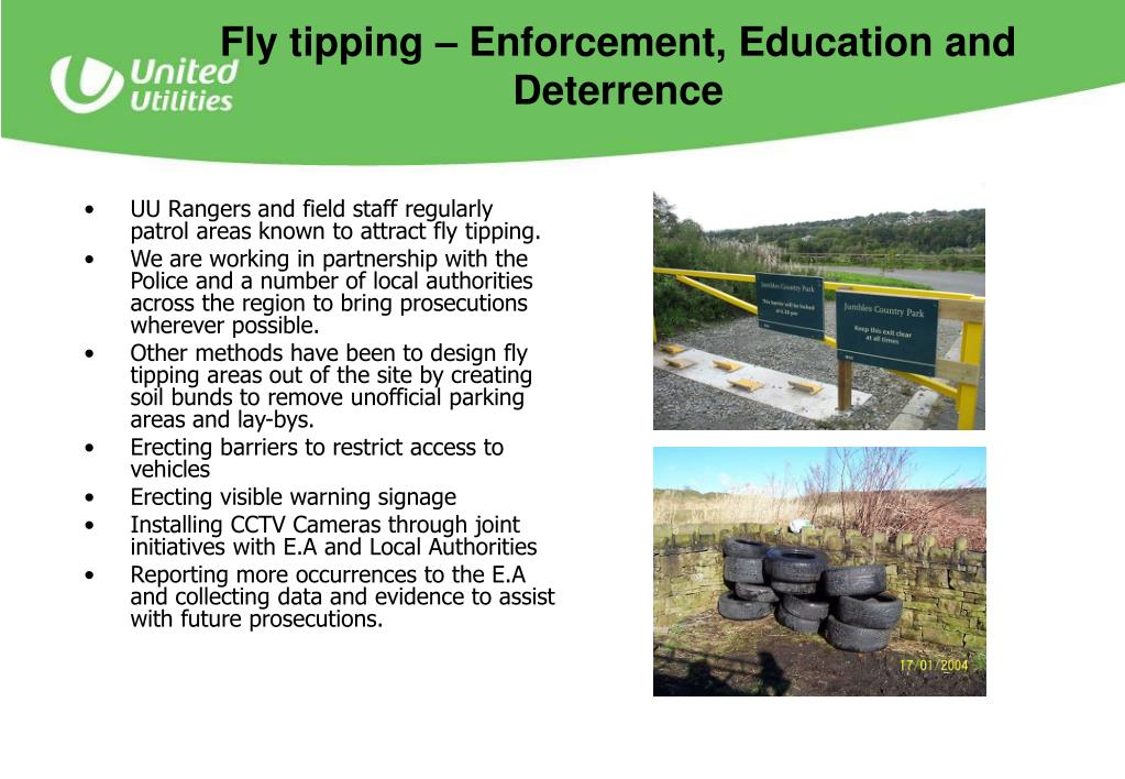 Fly tipping – Enforcement, Education and  Deterrence