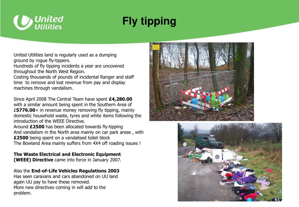 United Utilities land is regularly used as a dumping