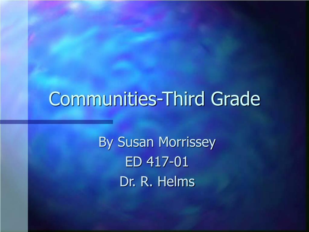 communities third grade l.