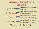 aggregate expenditures equation84