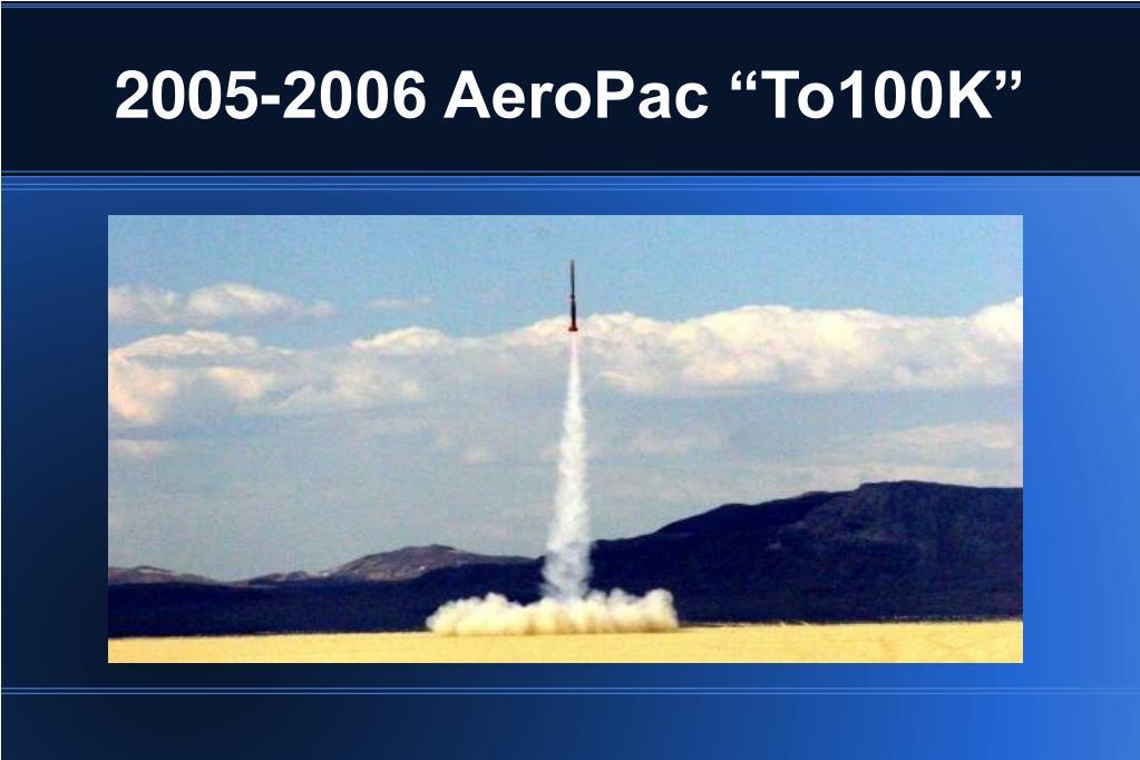 "2005-2006 AeroPac ""To100K"""