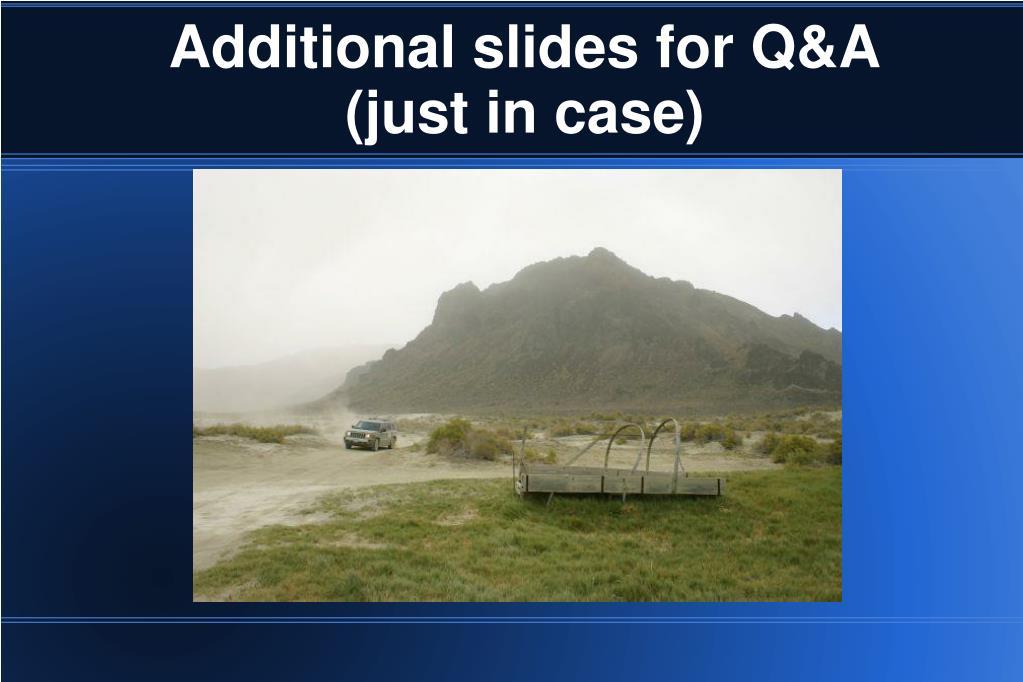 Additional slides for Q&A