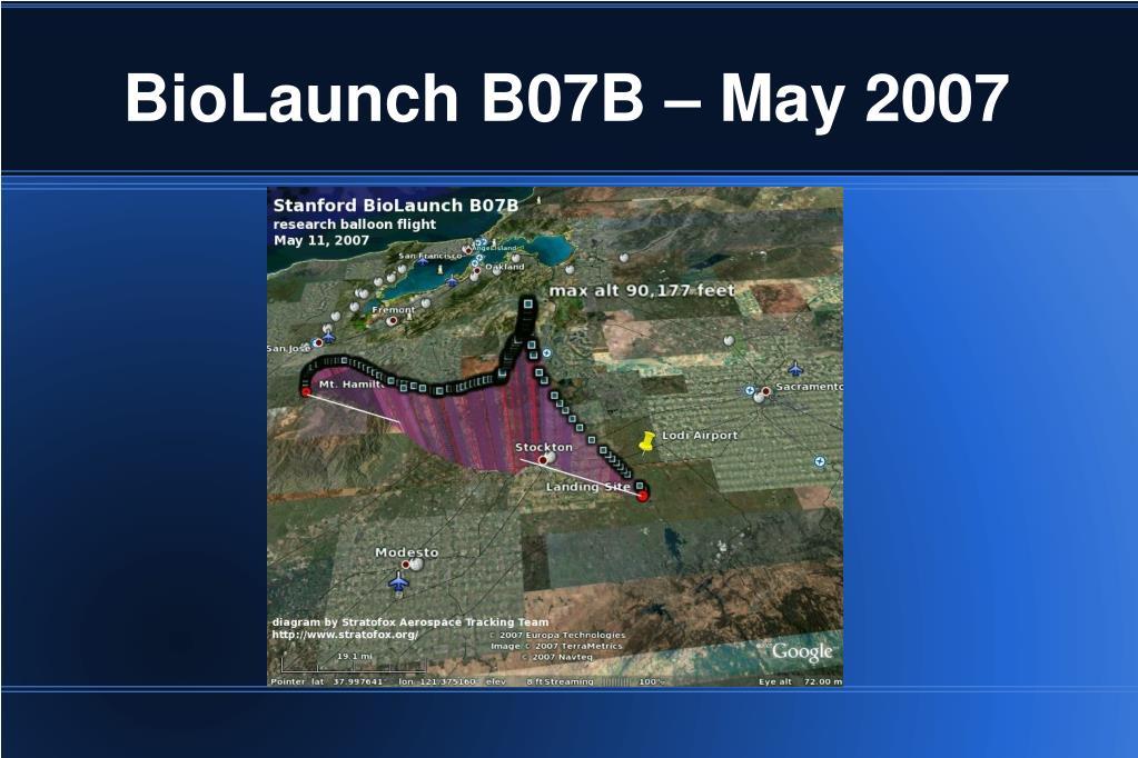 BioLaunch B07B – May 2007