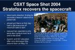 csxt space shot 2004 stratofox recovers the spacecraft