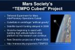 mars society s tempo cubed project