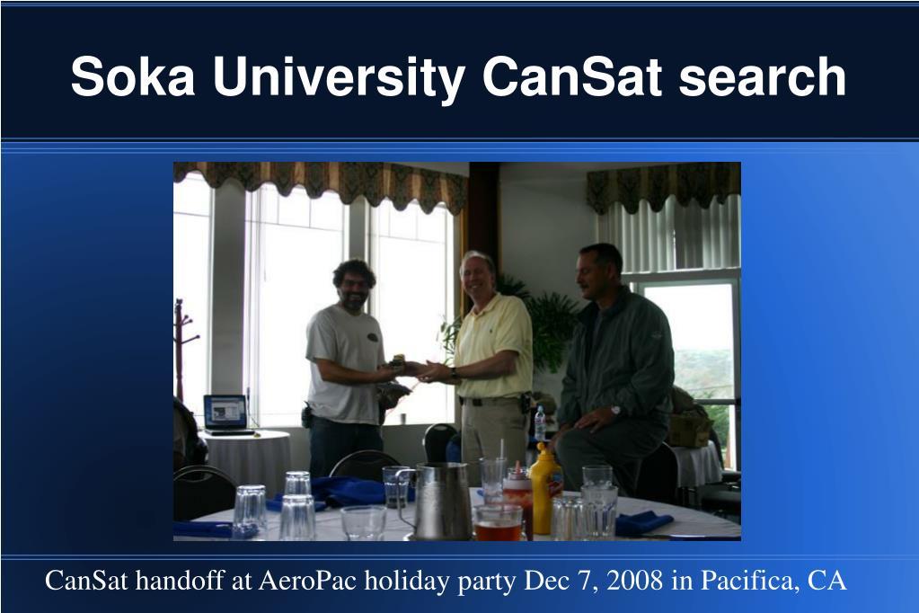 Soka University CanSat search