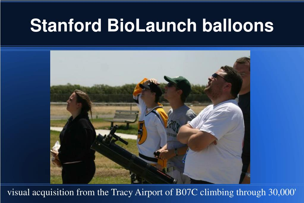 Stanford BioLaunch balloons
