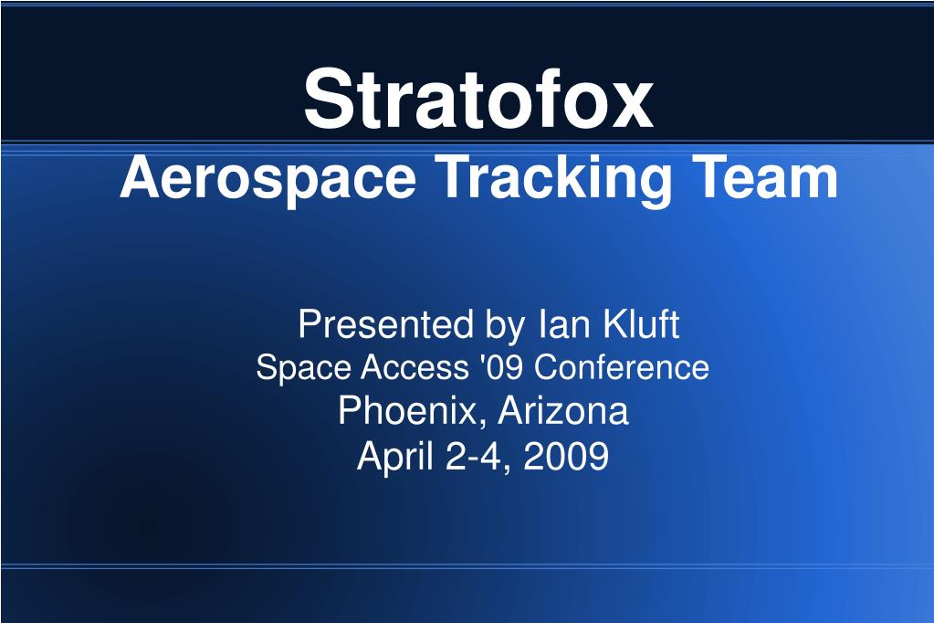 stratofox aerospace tracking team l.