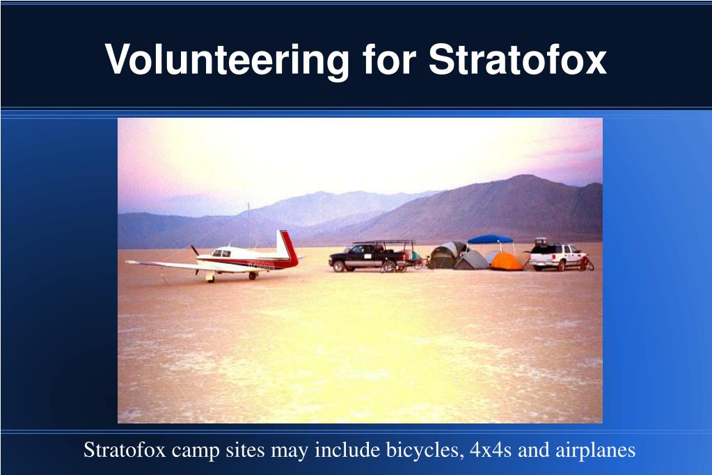 Volunteering for Stratofox