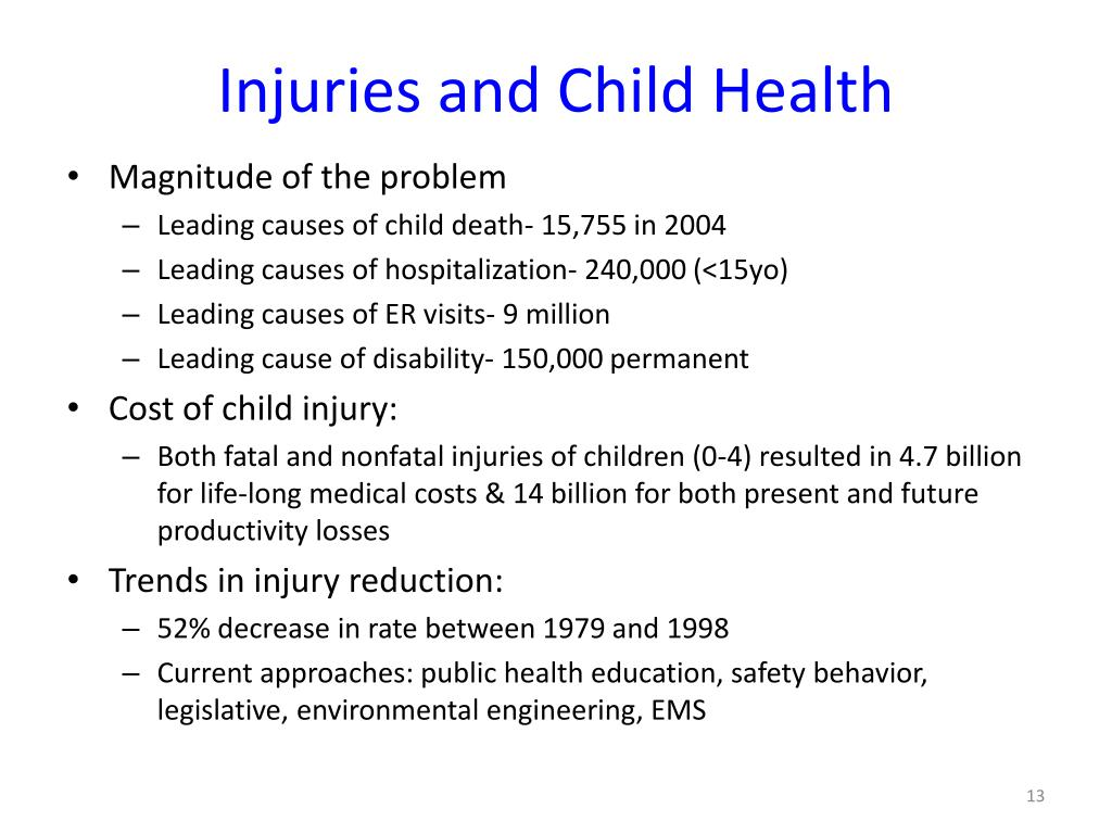 Injuries and Child Health