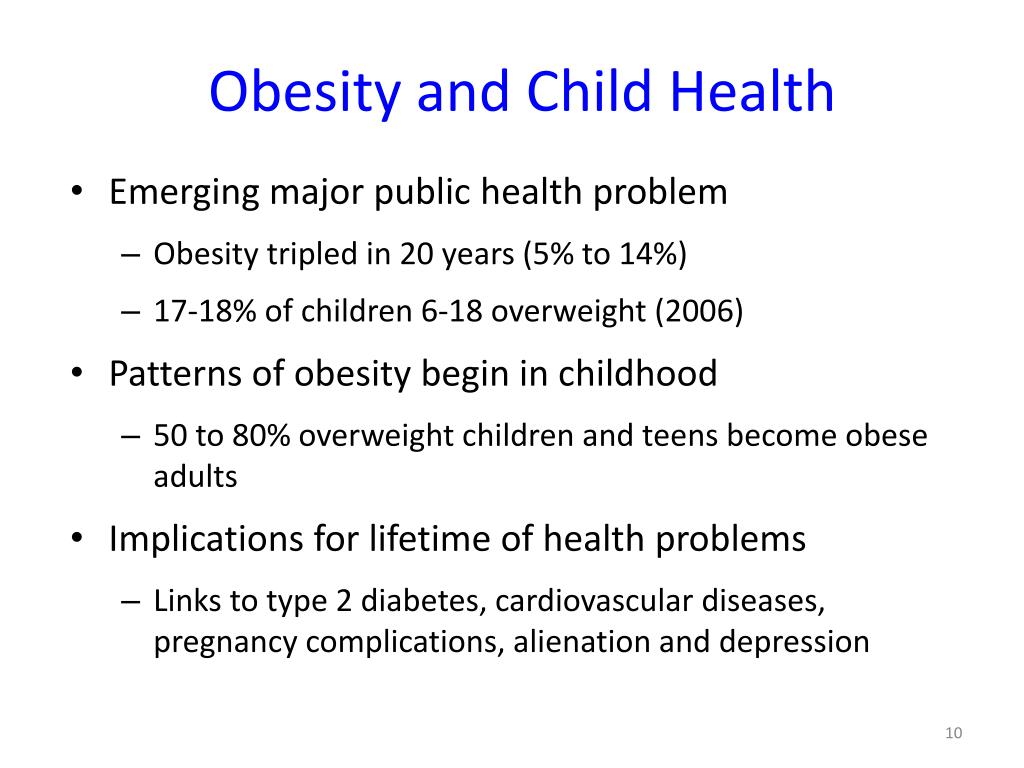 Obesity and Child Health