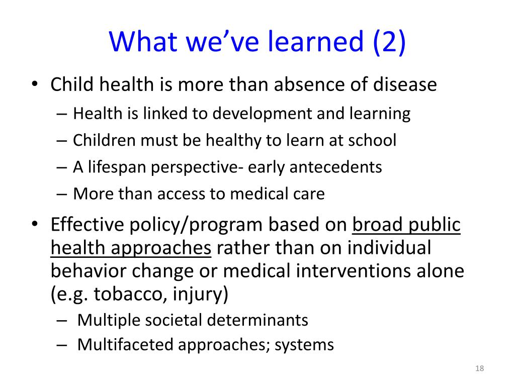 What we've learned (2)
