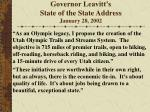 governor leavitt s state of the state address january 28 2002