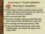 governor s trails initiative steering committee