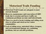 motorized trails funding