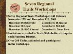 seven regional trails workshops