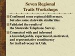 seven regional trails workshops27
