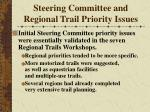 steering committee and regional trail priority issues