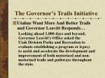 the governor s trails initiative