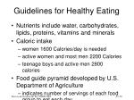 guidelines for healthy eating