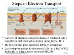 steps in electron transport