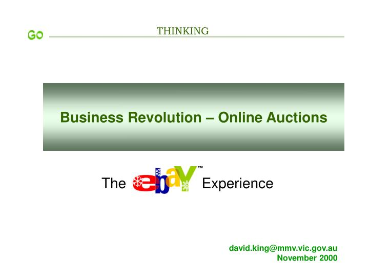 business revolution online auctions n.