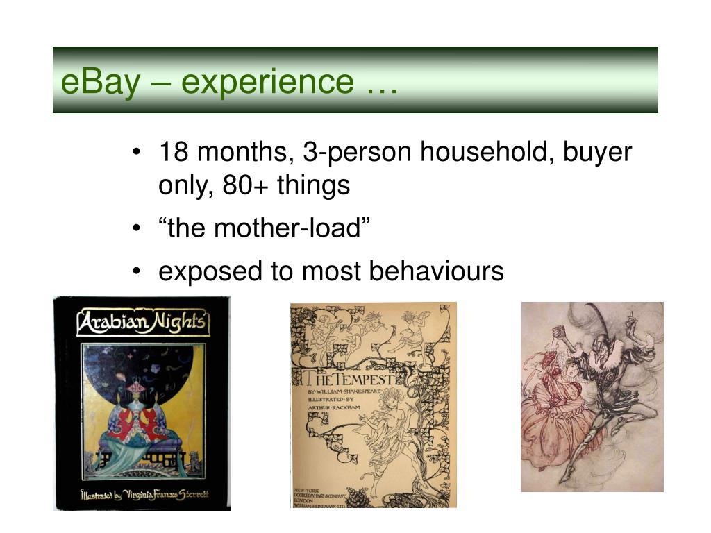 eBay – experience …