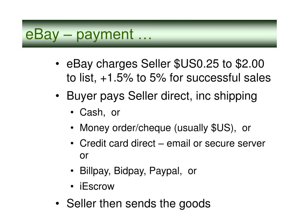 eBay – payment …