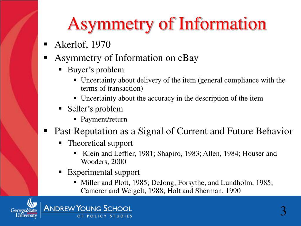 Asymmetry of Information