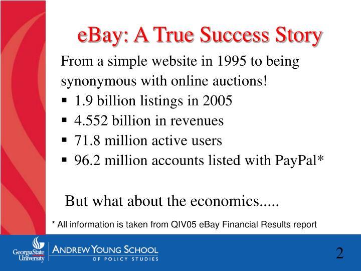 Ebay a true success story