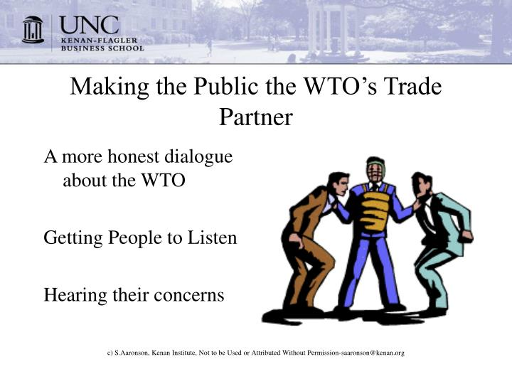making the public the wto s trade partner n.