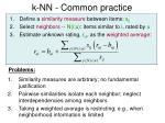 k nn common practice32