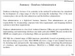 summary database administration
