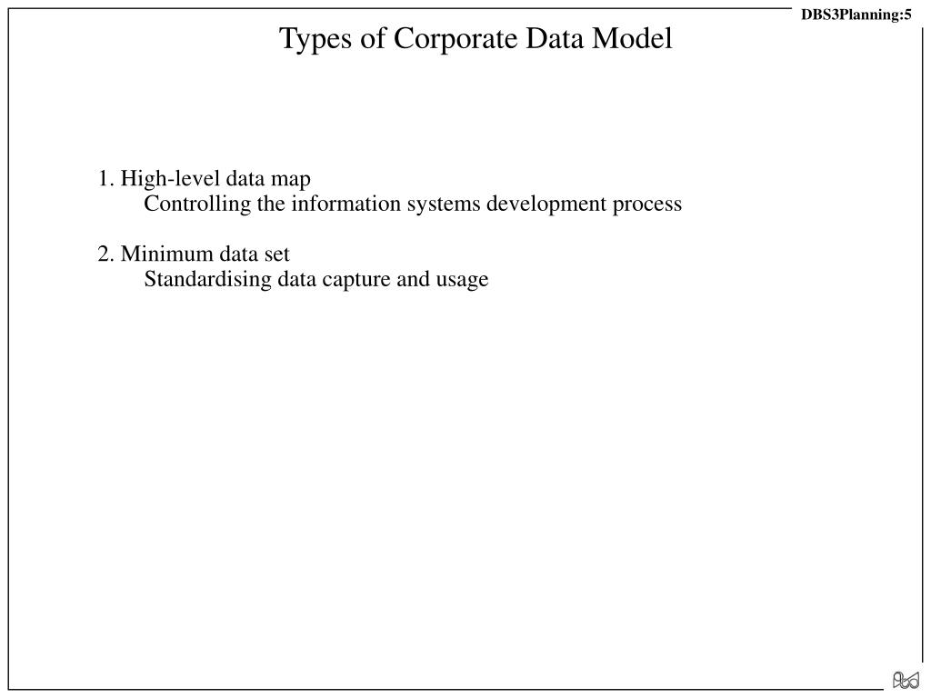 Types of Corporate Data Model