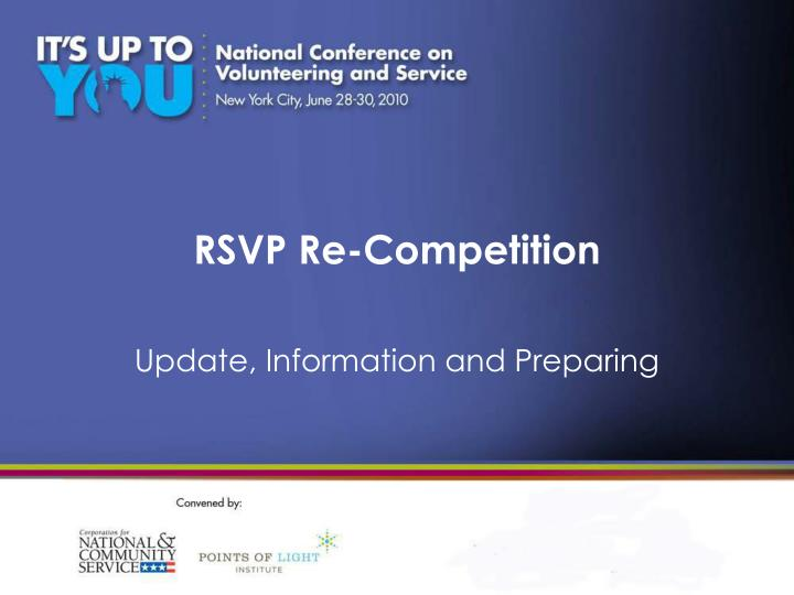 rsvp re competition n.