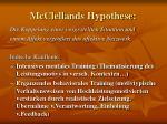 mcclellands hypothese