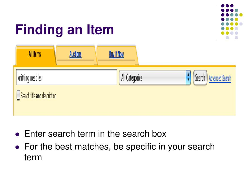 Finding an Item