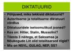 diktatuurid