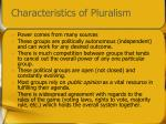 characteristics of pluralism