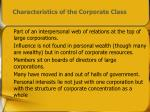 characteristics of the corporate class
