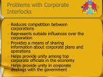problems with corporate interlocks