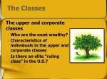the classes