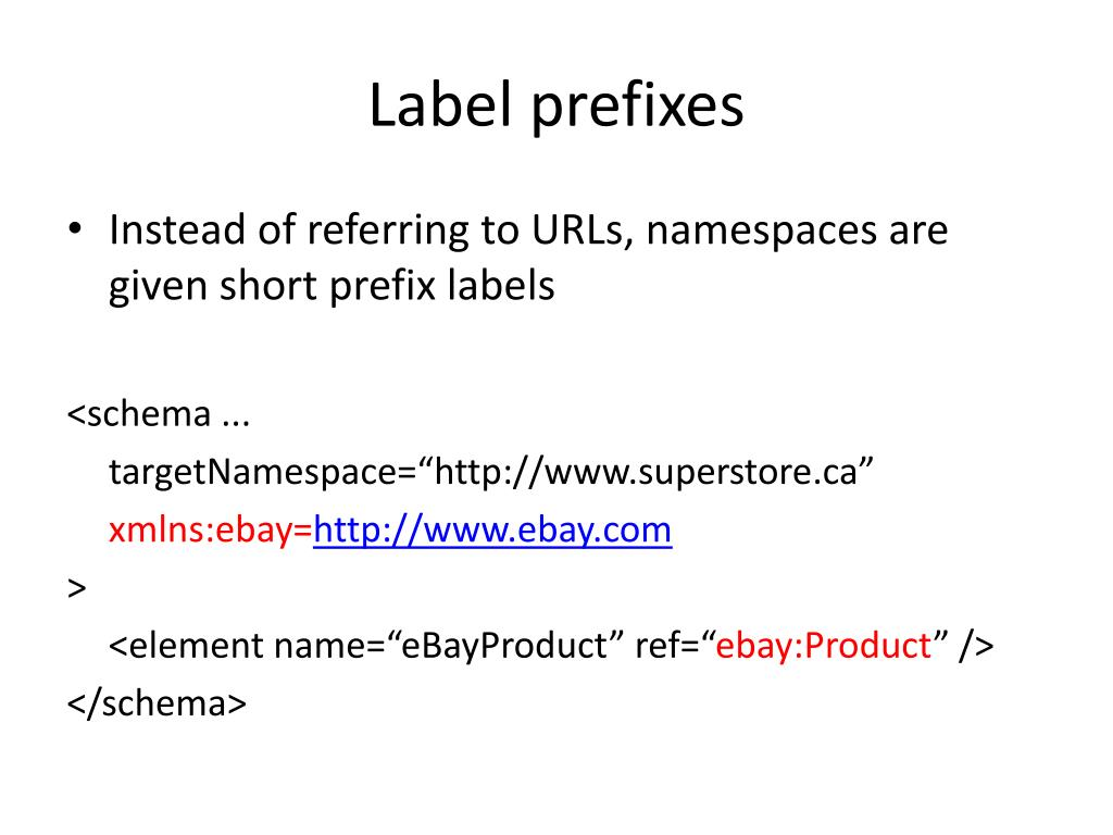 Label prefixes
