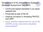development of the interpretative guidance measures assessment tool mat