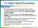 7 5 digital signal processing70
