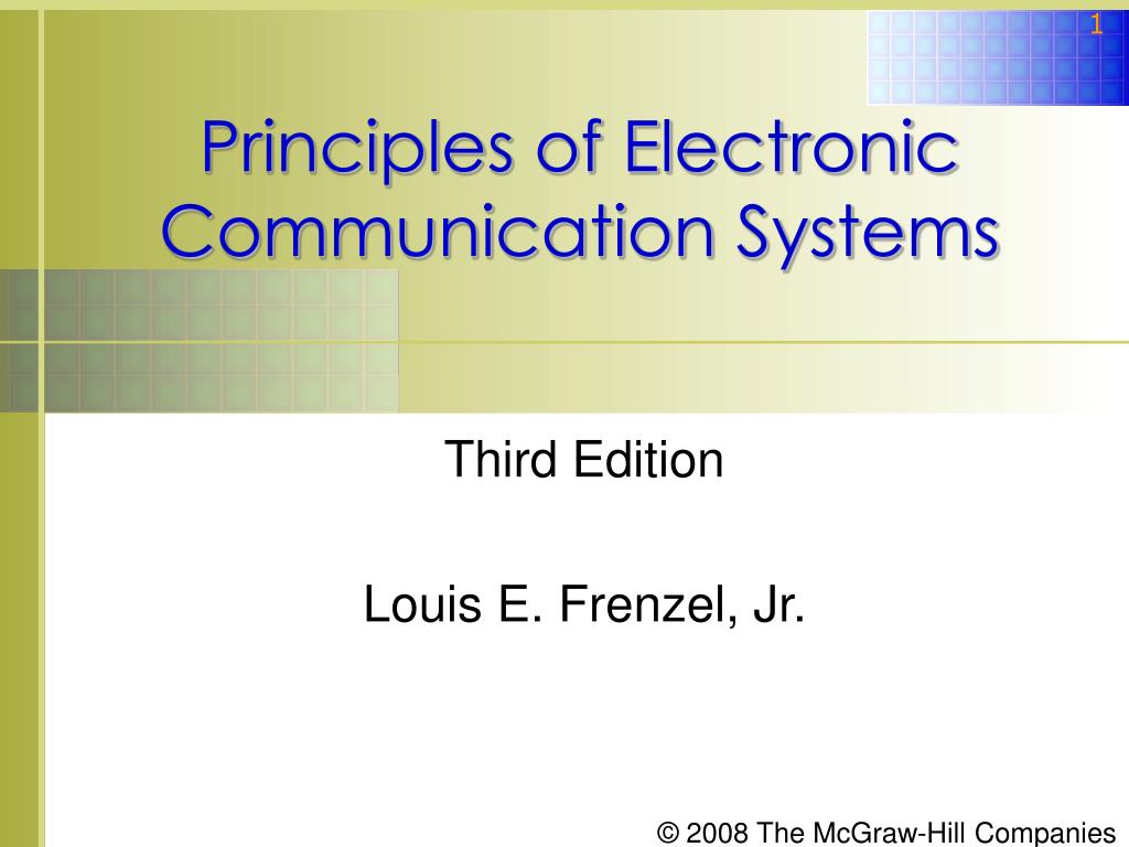 principles of electronic communication systems l.