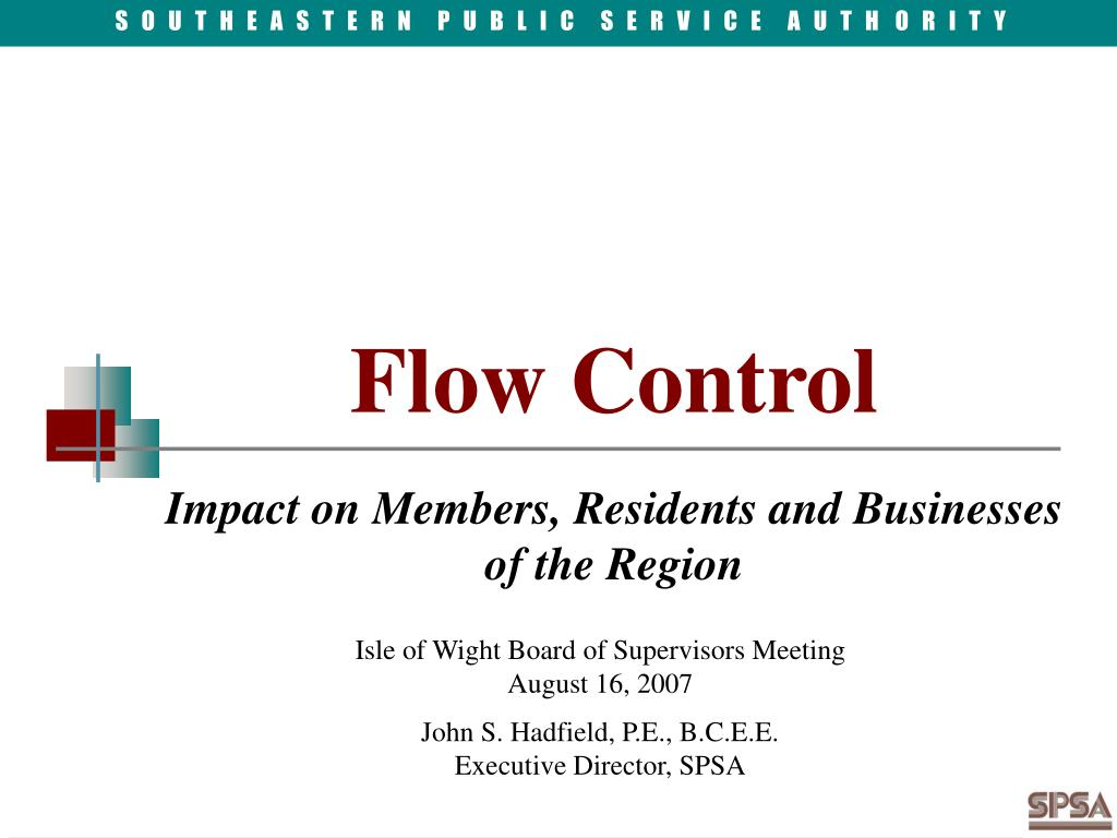 flow control impact on members residents and businesses of the region l.