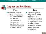 impact on residents
