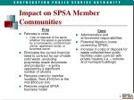 impact on spsa member communities